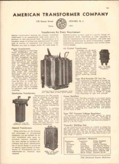 American Transformer Company 1942 Vintage Catalog Power Distribution