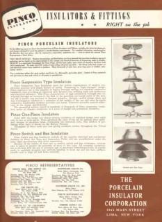 Porcelain Insulator Corp 1943 Vintage Catalog Pinco Bus Distribution