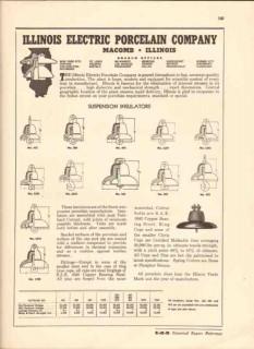 Illinois Electric Porcelain Company 1943 Vintage Catalog Insulators