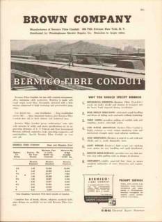 Brown Company 1943 Vintage Catalog Electrical Bermico Fibre Conduit