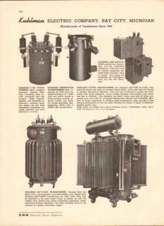 Kuhlman Electric Company 1943 Vintage Catalog Transformer Distribution