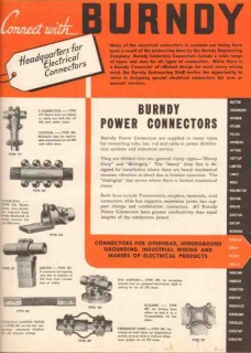 Burndy Engineering Company 1944 Vintage Catalog Connectors Clamp Power
