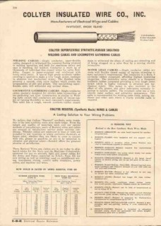 Collyer Insulated Wire Company 1944 Vintage Catalog Cables Resistol