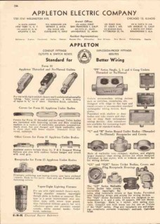 Appleton Electric Company 1944 Vintage Catalog Conduit Fittings Boxes