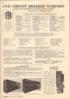 I-T-E Circuit Breaker Company 1944 Vintage Catalog Electrical Protect