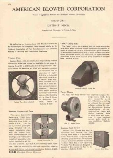 American Blower Corp 1944 Vintage Catalog Ventura Fans Forge Heating