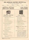 American Electric Switch Corp 1944 Vintage Catalog Industrial Panels