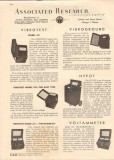 Associated Research Inc 1944 Vintage Catalog Electrical Meters Testing