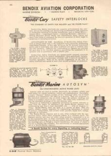 Bendix Aviation Corp 1944 Vintage Catalog Electrical Safety Interlocks