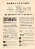 Brown Company 1944 Vintage Catalog Bermico Standard Fibre Conduit