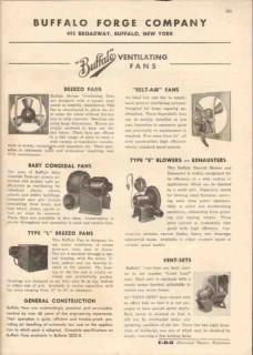 Buffalo Forge Company 1944 Vintage Catalog Fans Blowers Exhaust Breezo