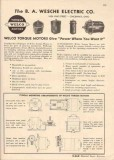 B A Wesche Electric Company 1944 Vintage Catalog Welco Torque Motors