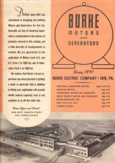 Burke Electric Company 1948 Vintage Catalog Motors Generators AC-DC