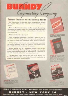 Burndy Engineering Company 1948 Vintage Catalog Connector Specialists