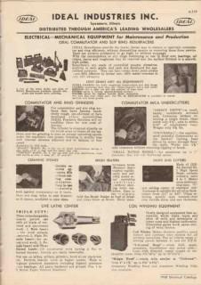 Ideal Industries Inc 1948 Vintage Catalog Commutator Ring Grinder Mica