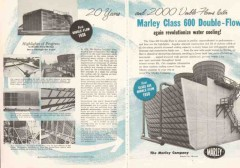 Marley Company 1959 Vintage Ad Oil Water Cooling Tower 600 Double-Flow
