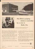 Bell Telephone System 1955 Vintage Ad Remote Control Pumping Station