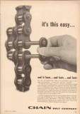 Chain Belt Company 1955 Vintage Ad Oil Oilfield Roller Easy Lasts