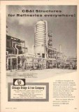 Chicago Bridge Iron Company 1955 Vintage Ad Oil Refinery Structures