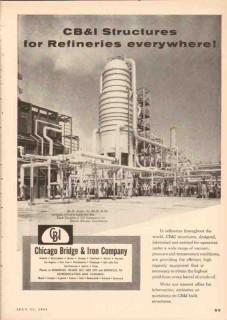 Chicago Bridge Iron Company 1955 Vintage Ad Oil Refinery Structures