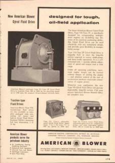 American Blower Corp 1955 Vintage Ad Tough Oilfield Application Gyrol