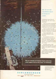 Schlumberger Well Surveying Corp 1955 Vintage Ad Radioactivity Logging