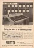 Bristol Company 1955 Vintage Ad Oil Pipeline Metameter Taking Pulse