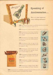 Hughes Tool Company 1951 Vintage Ad Oil Rotary Drilling Anniversaries