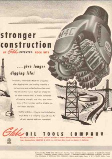 Globe Oil Tools Company 1950 Vintage Ad Stronger Longer Digging Life