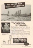 Maintenance Engineering Corp 1950 Vintage Ad Oil Natural Gas Equipment