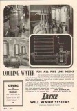 Layne Bowler Inc 1950 Vintage Ad Oil Cooling Water Pipe Line Needs