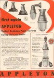 Appleton Electric Company 1950 Vintage Ad Vented Explosion-Proof Light