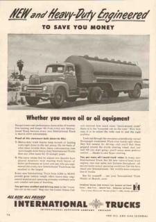 international harvester 1950 heavy-duty engineered truck vintage ad