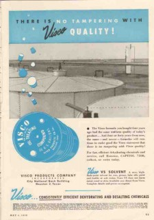 Visco Products Company 1950 Vintage Ad Chemical No Tampering Quality