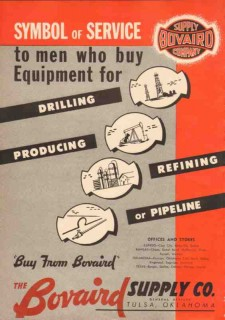 Bovaird Supply Company 1950 Vintage Ad Oil Symbol Service Equipment