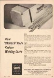 Linde Air Products Company 1950 Vintage Ad Oil Oxweld Welding Rods