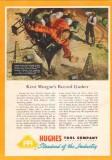 Hughes Tool Company 1950 Vintage Ad Oil Kent Morgan Record Gusher Gas
