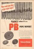 Byron Jackson Company 1950 Vintage Ad Patterson-Ballagh PB Pipe Wiper