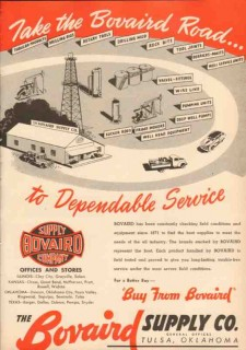 Bovaird Supply Company 1950 Vintage Ad Oil Field Dependable Service