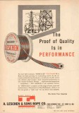 A Leschen Sons Rope Company 1950 Vintage Ad Proof Quality Performance