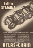 Atlas Chain Mfg Company 1950 Vintage Ad Built-In Stamina Super-Life