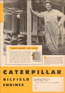 Caterpillar Tractor Company 1950 Vintage Ad Ed Wolcott Cusseta Wildcat
