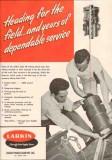 Larkin Packer Company 1950 Vintage Ad Oil Field Tubing Head Service