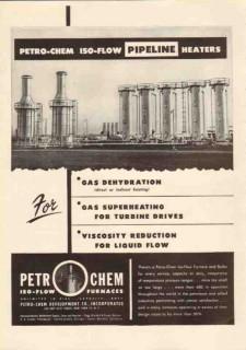 Petro-Chem Development Company 1950 Vintage Ad Gas ISO-Flow Pipeline