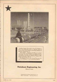 Petroleum Engineering Inc 1950 Vintage Ad Sun Oil Starr County Plant