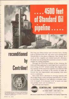 Centriline Corp 1950 Vintage Ad Standard Oil Pipeline Reconditioned