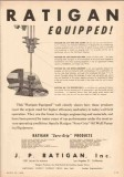 J P Ratigan Inc 1950 Vintage Ad Oil Field Pumping Equipped Sure-Grip