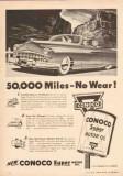 Continental Oil Company 1950 Vintage Ad Conoco Super Motor No Wear -1