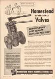 Homestead Valve Mfg Company 1950 Vintage Ad Oil Pipe Line Lever-Seald
