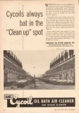 American Air Filter Company 1950 Vintage Ad Cycoil Oil Bath Cleaner